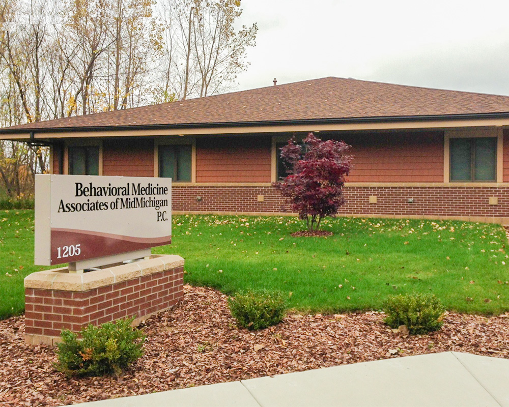 Behavioral Medicine Associates of MidMichigan Building in the Fall